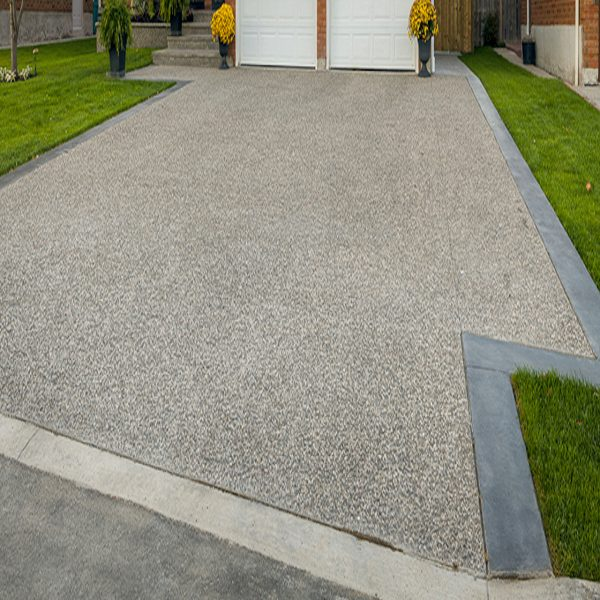 DecoMax Concrete - Combination Stamped and Exposed Aggregate Concrete Designs