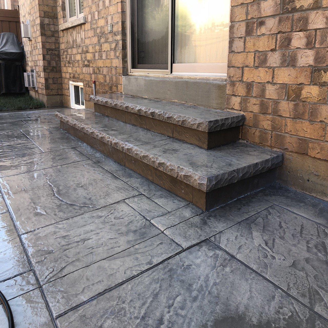 DecoMax Concrete - Concrete Steps Gallery - Stamped - 008